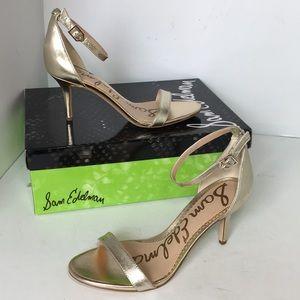 Sam Edelman Light Gold Leather Women's Sandals